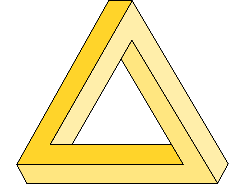 Penrose Triangle Illusion