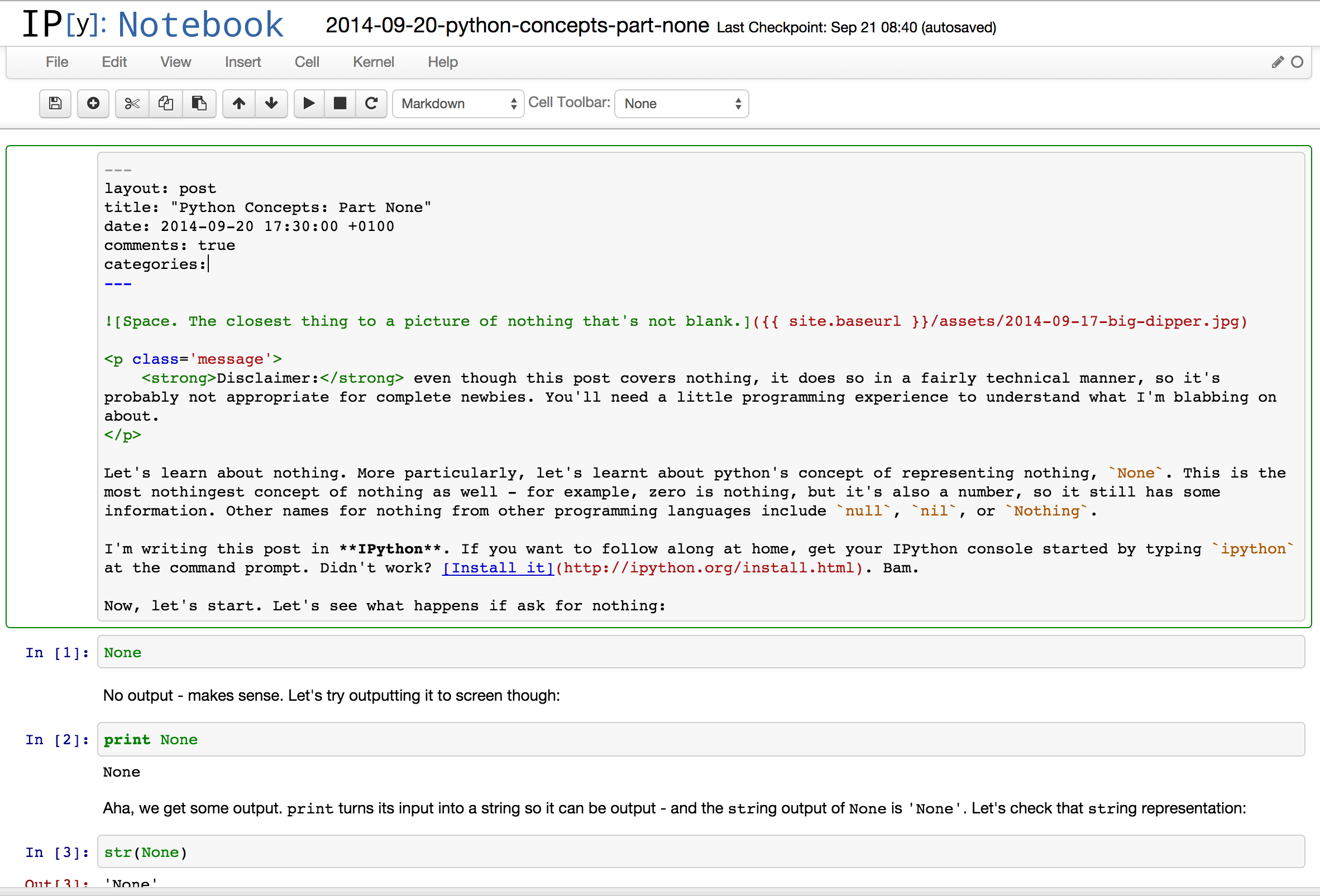 IPython Notebook Interface