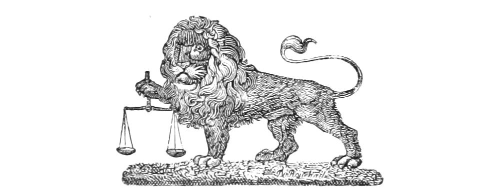 Lion with scale